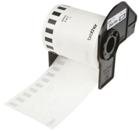 BROTHER Black on Transparent Label Printer Tape, 62 mm Width, 15 24 m Length