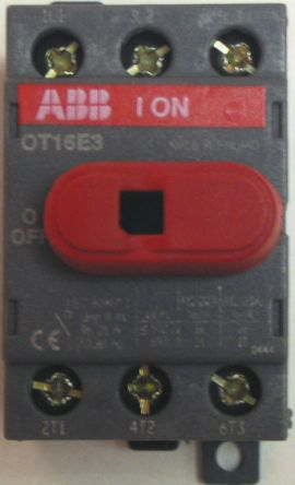 Switch,discon,non-fuse,DIN rail, 3P 16A