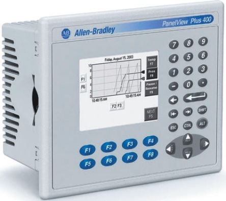 PLC,PanelView Plus 400,interface panel,mono,FSTN,monitor,4in,input  RS232,input ethernet