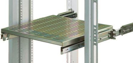 Grey Ventilated Shelf, 1U x 556mm x 483mm, 50kg max