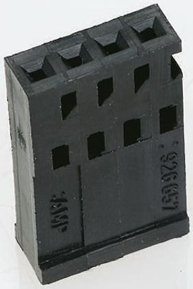926657-2 - Female Connector Housing - AMPMODU, 2.54mm Pitch, 2 Way, 1 Row product photo