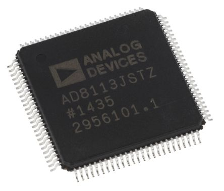 Analog Devices AD8113JSTZ, Crosspoint Switch 16 x 16 60MHz Audio/Video, 100-Pin LQFP