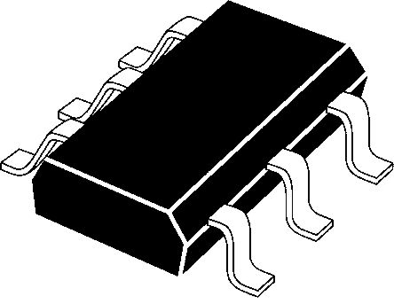 ON Semiconductor NUF2221W1T2G, CAN Bus Terminator, 2bit-Bits, 6-Pin SC-88
