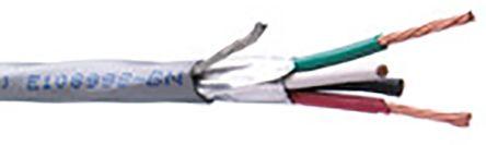 Belden 4 Core Screened Security Cable 0.82 mm² CSA, Low Smoke Zero Halogen (LSZH) Sheath, 100m