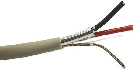 Belden 2 Core Screened Security Cable 0.33 mm² CSA, Flame Retardant Non-Corrosive (FRNC) Sheath, 100m