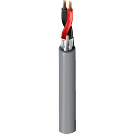 Belden 2 Core Screened Security Cable 0.82 mm² CSA, Polyvinyl Chloride PVC Sheath, 152m