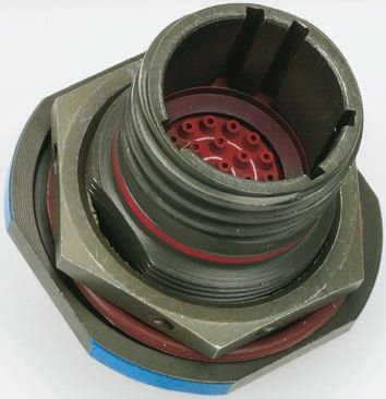 Socapex 22 Way Panel Mount MIL Spec Circular Connector Receptacle, Socket Contacts,Shell Size 13 product photo