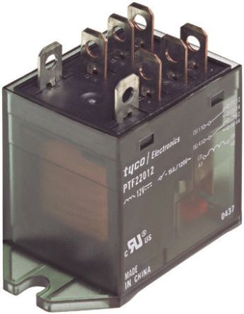 TE Connectivity DPDT Non-Latching Relay Flange Mount, 230V ac Coil, 10A