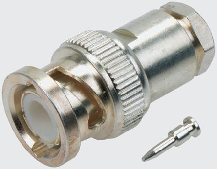 RF // Coaxial Connector 75 ohm Brass BNC Terminator Straight Plug