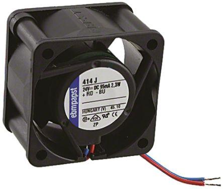 ebm-papst MB Series Axial Fan, 40 x 40 x 25 4mm, 19m³/h, 2 4W, 24 V dc