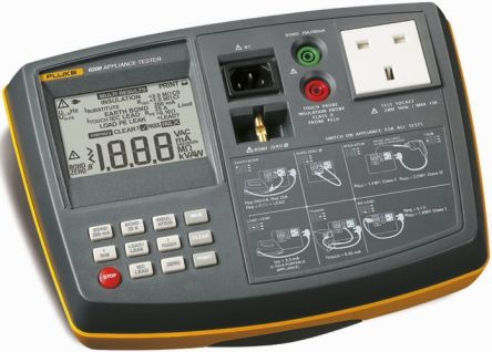 Fluke Pass/Fail PAT 6200 AU Portable Appliance Tester, Class I, Class II Test Type