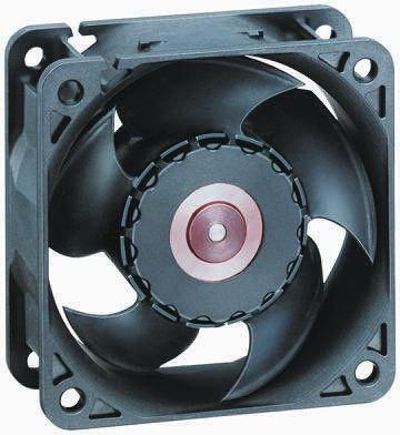 ebm-papst 620 Series Axial Fan, 60 x 60 x 25mm, 40m³/h, 2.2W, 24 V dc
