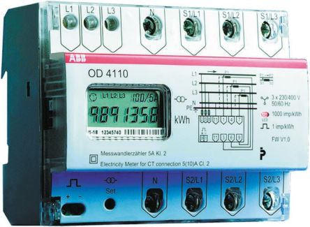 ABB LCD Digital Power Meter, 7-Digits, 3 Phase , ±2 % Accuracy Abb Ct Cabinet Wiring Diagram on