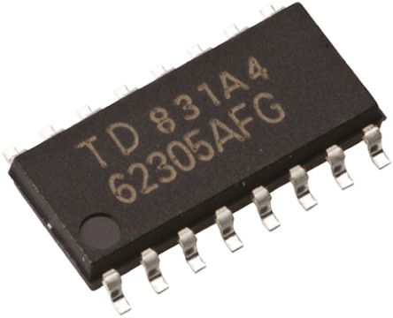 Toshiba TC4049BF(F), Hex-Channel Buffer, Converter, Inverting, 16-Pin SOP