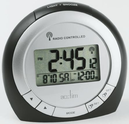 71093 acctim radio controlled black silver digital desktop clock rh uk rs online com acctim radio controlled clock setting instructions acctim radio controlled clock instructions hd 1688