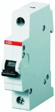 System M Pro S200 MCB Mini Circuit Breaker 1P, 2 A, 6 kA, Curve C