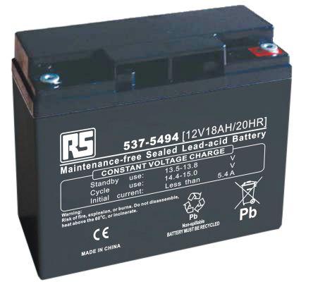 12v 18ah Battery >> Rs Sealed Lead Acid Battery 12v 18ah