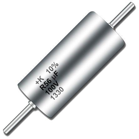 Lot//2 MTP307M010P1C Wet Tantalum Axial Capacitor,300 ufd 10VDC,NOS
