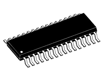 Analog Devices ADG3247BRUZ, Bus Switch, 8 x 1:1, 2.3 → 3.6 V, 38-Pin TSSOP