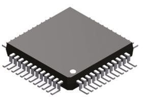 ADV7123KSTZ50, Video DAC Triple, 10 bit- 50Msps ±5%FSR Parallel, 48-Pin LQFP