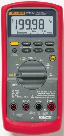 Fluke 87V Handheld Digital Multimeter, 10A ac 1000V ac 10A dc 1000V dc