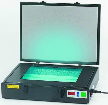 300-001, Single Sided 229 x 159mm UV Exposure Unit With 2 x 8 W Tubes, 420 x 175 x 90mm