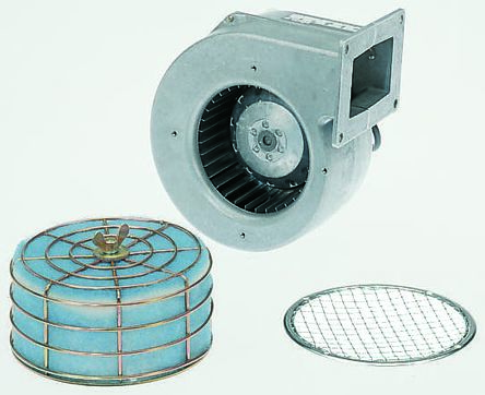 ebm-papst Centrifugal Fan 184 x 178 x 115mm, 255m³/h, 230 V ac AC (G2E120 Series)