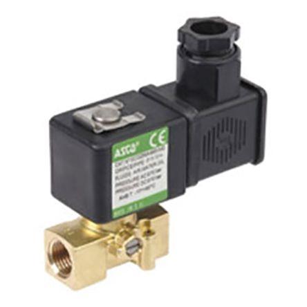Válvula de solenoide Asco SCG256B004VMS.230/50, 2 puertos , 230 V ac, 1/8plg