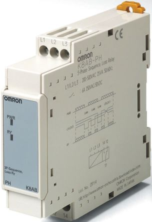 Omron Phase Monitoring Relay With SPDT-NC Contacts, 3 Phase, 200 → on