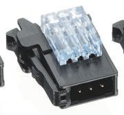 TE Connectivity RITS Connector Plug 4 Way Straight Cable Mount 2mm Pitch Blue