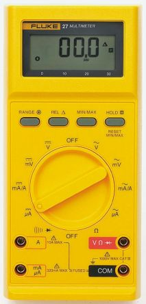 fluke 27 y fluke 27 digital multimeter handheld 10a ac 1000v ac rh uk rs online com Fluke Instruction Manual fluke 27fm multimeter manual