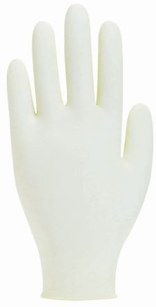 Cream Synthetic Polymer Gloves size 9.5 - XL Powder-Free x 100 product photo