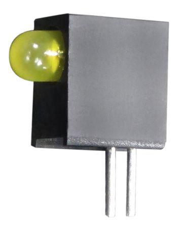 Kingbright L-710A8EW/1YD, Yellow Right Angle PCB LED Indicator, Through Hole 2.5 V