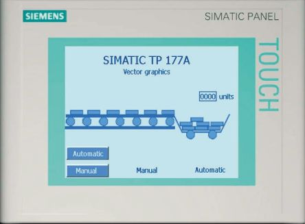 Siemens TP 177A Series Touch-Screen HMI Display 5 7 in LCD 320 x 240pixels
