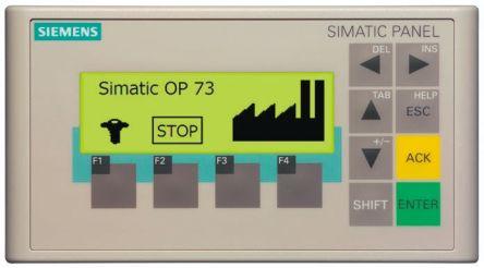 Siemens LCD, STN LCD HMI Terminal, Keypad, Membrane Keyboard, 24 V dc Supply