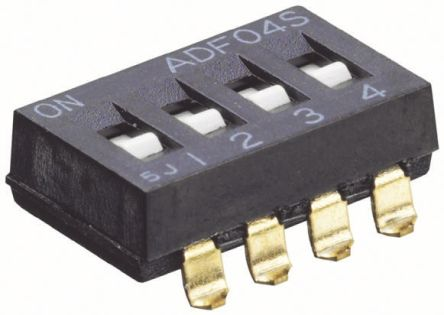 DIP switch,SMT,SPST,2 pos,flush slide