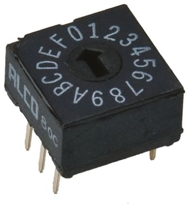 16 Way Through Hole DIP Switch 16P, Rotary Flush Actuator