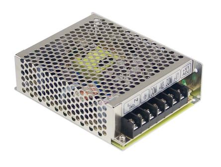 Mean Well, 51W Embedded Switch Mode Power Supply SMPS, 15V dc, Enclosed