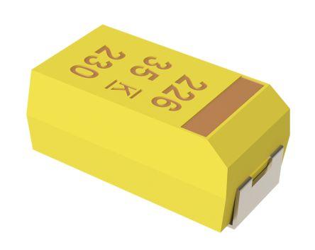 KEMET T491 SMD Tantal Elko, Kondensator, 47μF ±10%, 35V Dc, +125°C, Gehäuse X (10), T491X476K035AT