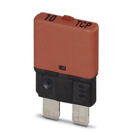 Phoenix Contact 10A SP Pole Automotive Thermal Circuit Breaker, 32V dc