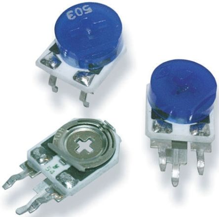 10kΩ, Through Hole Trimmer Potentiometer 0.5W Side Adjust TE Connectivity, 409