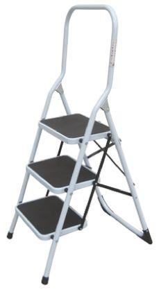 Large Folding Steel Steps - 3 Step