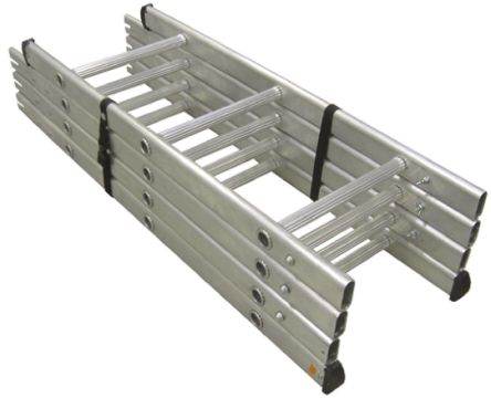 RS PRO Extension Ladder 12 steps Aluminium 3.65m open length