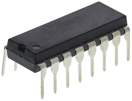 Texas Instruments CD4009UBE, Hex-Channel Buffer, Converter, Inverting, 16-Pin PDIP