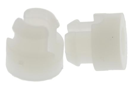 SRS-4-8-01, 12.7mm High Nylon Self-Retaining Spacer with 4.7mm PCB Hole and 3mm Chassis Hole for M3 Screw
