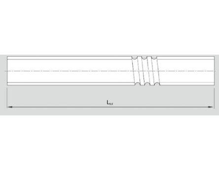 Bosch Rexroth Rolled Screw, 16mm Shaft Diameter , 1500mm Shaft Length