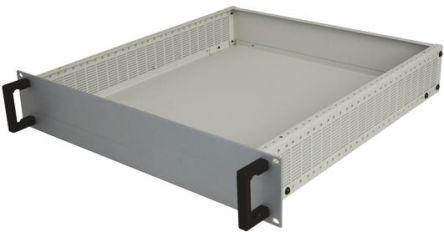 RS PRO, 4U Heavy Duty Rack Mount Case Ventilated, 177 x 483 x 466mm