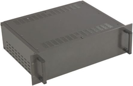 RS PRO Ventilated Rackmount Enclosure, 4U, 84 HP, Height 177mm, 425mm Deep