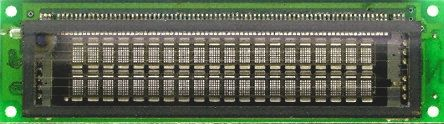 Futaba M202SD08GS VFD(Vacuum Fluorescent Display) Ekran 7 x 5, 2 Satır x 20 Karakter, ASCII, Paralel/Seri I/F