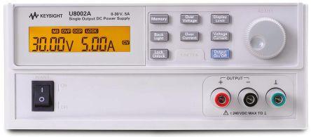 Keysight Technologies U8002A Digital Bench Power Supply, 1 Output 0 → 30V 0 → 5A 150W